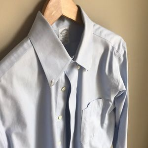 Brooks Brothers, blue, dress shirt, 15 1/2 - 34
